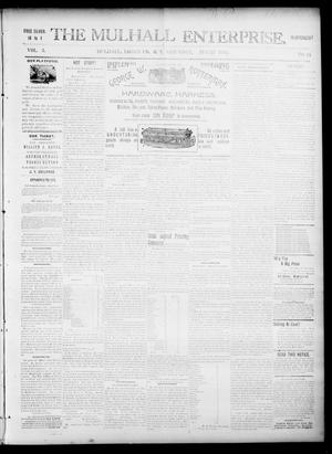 Primary view of object titled 'The Mulhall Enterprise. (Mulhall, Okla. Terr.), Vol. 3, No. 34, Ed. 1 Saturday, August 22, 1896'.