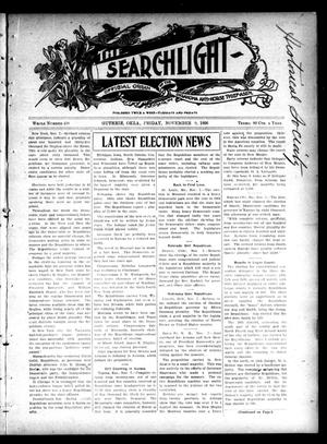 Primary view of object titled 'The Searchlight (Guthrie, Okla.), No. 438, Ed. 1 Friday, November 9, 1906'.
