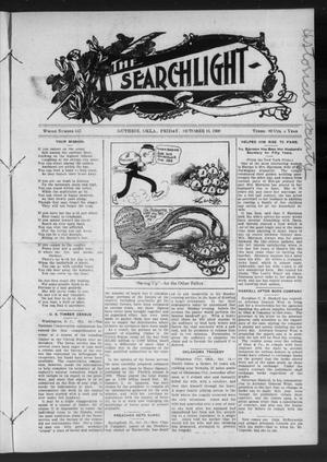 Primary view of object titled 'The Searchlight (Guthrie, Okla.), No. 547, Ed. 1 Friday, October 16, 1908'.