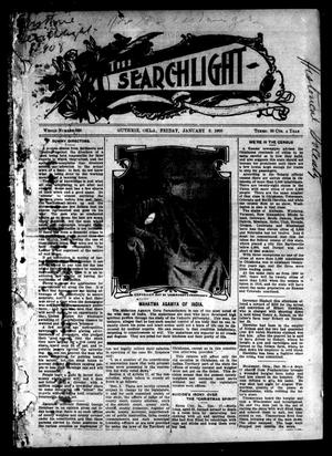 Primary view of object titled 'The Searchlight (Guthrie, Okla.), No. 506, Ed. 1 Friday, January 3, 1908'.
