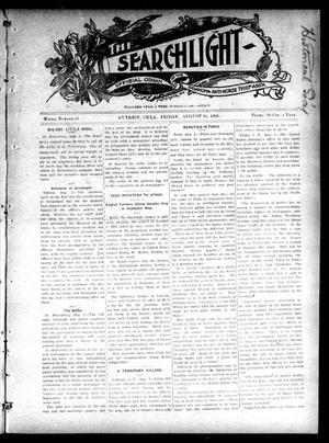 Primary view of object titled 'The Searchlight (Guthrie, Okla.), No. 412, Ed. 1 Friday, August 10, 1906'.