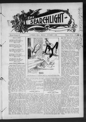 Primary view of object titled 'The Searchlight (Guthrie, Okla.), No. 546, Ed. 1 Friday, October 9, 1908'.