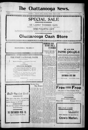 Primary view of object titled 'The Chattanooga News. (Chattanooga, Okla.), Vol. 16, No. 5, Ed. 1 Thursday, March 31, 1921'.