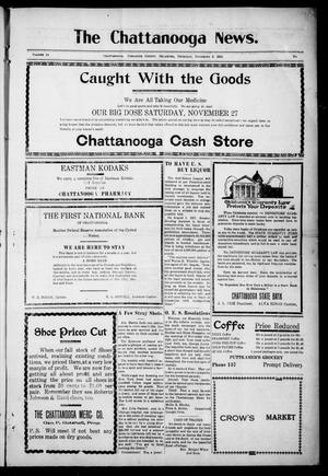 Primary view of object titled 'The Chattanooga News. (Chattanooga, Okla.), Vol. 14, Ed. 1 Thursday, December 2, 1920'.