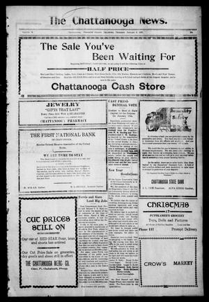 Primary view of object titled 'The Chattanooga News. (Chattanooga, Okla.), Vol. 14, Ed. 1 Thursday, January 6, 1921'.