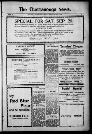 Primary view of object titled 'The Chattanooga News. (Chattanooga, Okla.), Vol. 14, Ed. 1 Thursday, September 23, 1920'.