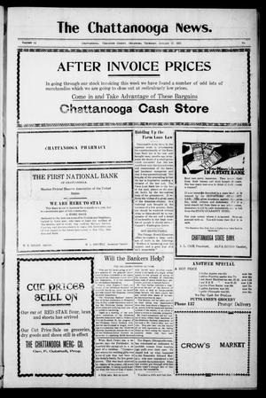 Primary view of object titled 'The Chattanooga News. (Chattanooga, Okla.), Vol. 14, Ed. 1 Thursday, January 27, 1921'.