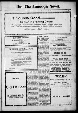 Primary view of object titled 'The Chattanooga News. (Chattanooga, Okla.), Vol. 14, Ed. 1 Thursday, August 19, 1920'.