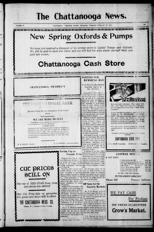 Primary view of object titled 'The Chattanooga News. (Chattanooga, Okla.), Vol. 14, Ed. 1 Thursday, February 10, 1921'.