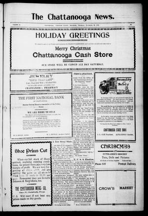 Primary view of object titled 'The Chattanooga News. (Chattanooga, Okla.), Vol. 14, Ed. 1 Thursday, December 23, 1920'.