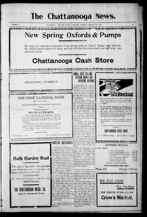 Primary view of object titled 'The Chattanooga News. (Chattanooga, Okla.), Vol. 14, Ed. 1 Thursday, February 17, 1921'.