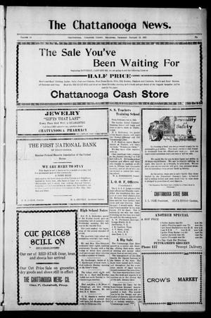 Primary view of object titled 'The Chattanooga News. (Chattanooga, Okla.), Vol. 14, Ed. 1 Thursday, January 13, 1921'.