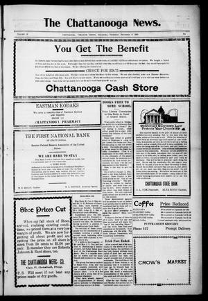Primary view of object titled 'The Chattanooga News. (Chattanooga, Okla.), Vol. 14, Ed. 1 Thursday, December 9, 1920'.