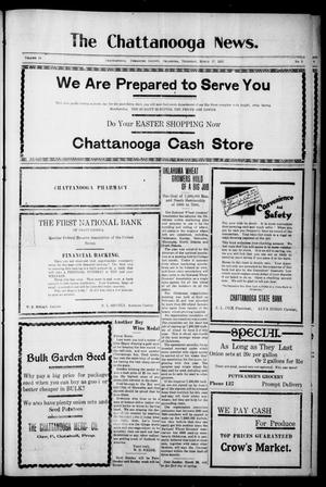 Primary view of object titled 'The Chattanooga News. (Chattanooga, Okla.), Vol. 16, No. 3, Ed. 1 Thursday, March 17, 1921'.