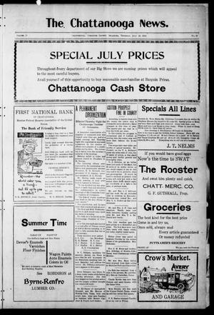 Primary view of object titled 'The Chattanooga News. (Chattanooga, Okla.), Vol. 17, No. 20, Ed. 1 Thursday, July 13, 1922'.