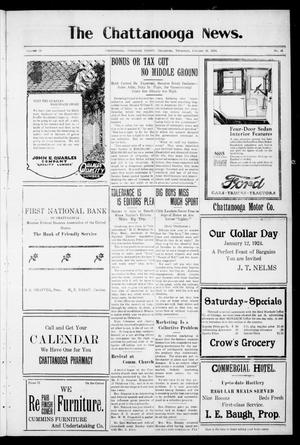 Primary view of object titled 'The Chattanooga News. (Chattanooga, Okla.), Vol. 18, No. 46, Ed. 1 Thursday, January 10, 1924'.