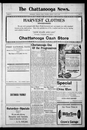 Primary view of object titled 'The Chattanooga News. (Chattanooga, Okla.), Vol. 18, No. 14, Ed. 1 Thursday, May 31, 1923'.