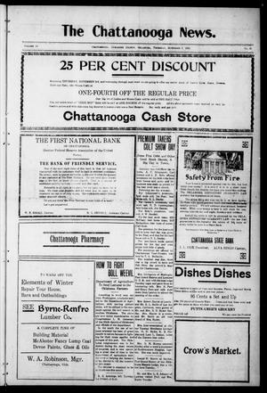 Primary view of object titled 'The Chattanooga News. (Chattanooga, Okla.), Vol. 16, No. 36, Ed. 1 Thursday, November 3, 1921'.