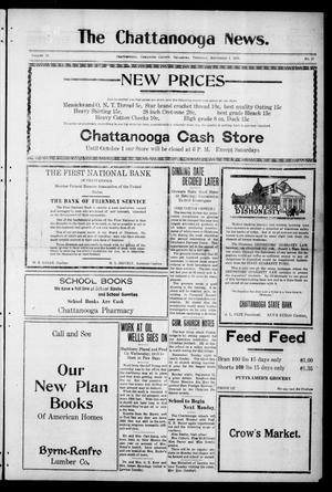 Primary view of object titled 'The Chattanooga News. (Chattanooga, Okla.), Vol. 16, No. 27, Ed. 1 Thursday, September 1, 1921'.