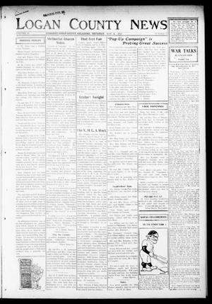 Primary view of object titled 'The Logan County News (Crescent, Okla.), Vol. 14, No. 52, Ed. 1 Thursday, November 8, 1917'.