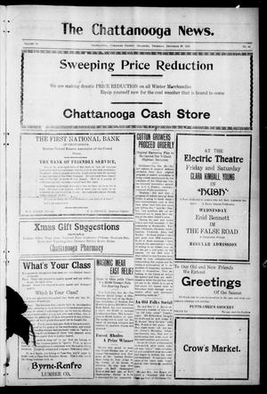 Primary view of object titled 'The Chattanooga News. (Chattanooga, Okla.), Vol. 16, No. 44, Ed. 1 Thursday, December 29, 1921'.