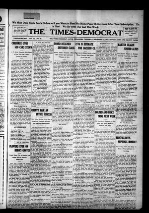 Primary view of object titled 'The Times-Democrat (Altus, Okla.), Vol. 16, No. 36, Ed. 1 Thursday, September 12, 1918'.