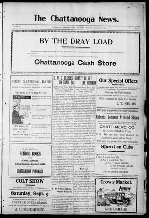 Primary view of object titled 'The Chattanooga News. (Chattanooga, Okla.), Vol. 17, No. 28, Ed. 1 Thursday, September 7, 1922'.