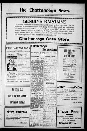 Primary view of object titled 'The Chattanooga News. (Chattanooga, Okla.), Vol. 17, No. 48, Ed. 1 Thursday, January 25, 1923'.