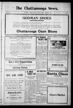 Primary view of object titled 'The Chattanooga News. (Chattanooga, Okla.), Vol. 16, No. 41, Ed. 1 Thursday, December 8, 1921'.