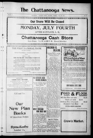 Primary view of object titled 'The Chattanooga News. (Chattanooga, Okla.), Vol. 16, No. 18, Ed. 1 Thursday, June 30, 1921'.