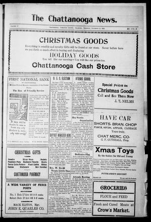 Primary view of object titled 'The Chattanooga News. (Chattanooga, Okla.), Vol. 17, No. 42, Ed. 1 Thursday, December 14, 1922'.