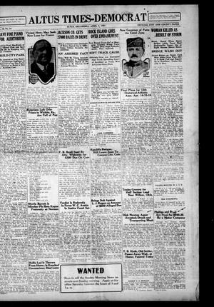 Primary view of object titled 'Altus Times-Democrat (Altus, Okla.), Vol. 19, No. 14, Ed. 1 Thursday, April 7, 1921'.