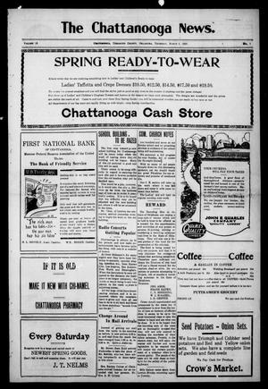 Primary view of object titled 'The Chattanooga News. (Chattanooga, Okla.), Vol. 18, No. 1, Ed. 1 Thursday, March 1, 1923'.