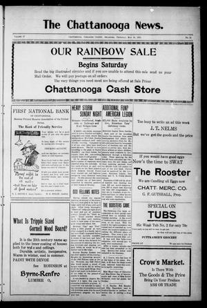 Primary view of object titled 'The Chattanooga News. (Chattanooga, Okla.), Vol. 17, No. 11, Ed. 1 Thursday, May 11, 1922'.