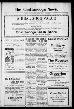 Primary view of object titled 'The Chattanooga News. (Chattanooga, Okla.), Vol. 17, No. 14, Ed. 1 Thursday, June 1, 1922'.