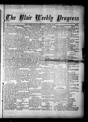 Primary view of object titled 'The Blair Weekly Progress (Blair, Okla.), Vol. 9, No. 33, Ed. 1 Thursday, January 16, 1913'.