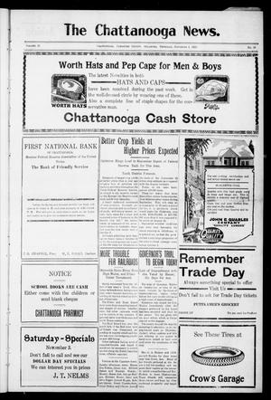 Primary view of object titled 'The Chattanooga News. (Chattanooga, Okla.), Vol. 18, No. 36, Ed. 1 Thursday, November 1, 1923'.