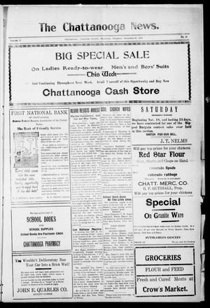 Primary view of object titled 'The Chattanooga News. (Chattanooga, Okla.), Vol. 17, No. 38, Ed. 1 Thursday, November 16, 1922'.