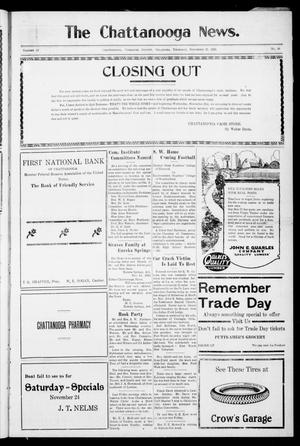 Primary view of object titled 'The Chattanooga News. (Chattanooga, Okla.), Vol. 18, No. 39, Ed. 1 Thursday, November 22, 1923'.