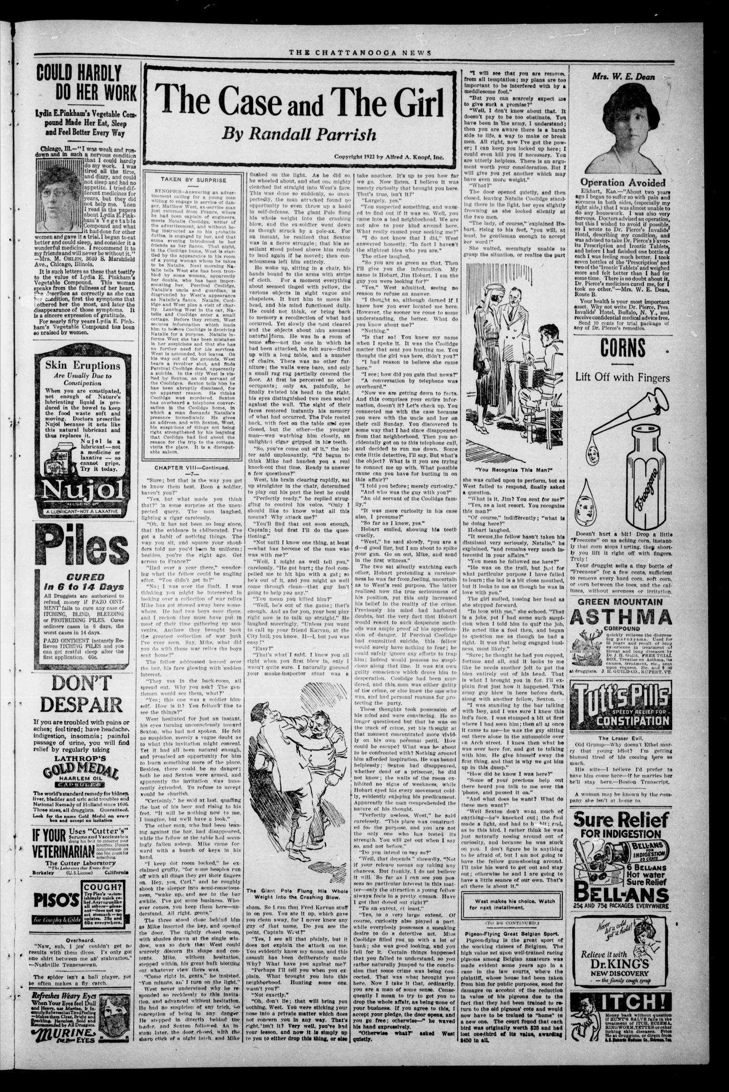 The Chattanooga News. (Chattanooga, Okla.), Vol. 17, No. 51, Ed. 1 Thursday, February 15, 1923                                                                                                      [Sequence #]: 3 of 6