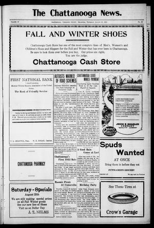 Primary view of object titled 'The Chattanooga News. (Chattanooga, Okla.), Vol. 18, No. 26, Ed. 1 Thursday, August 23, 1923'.
