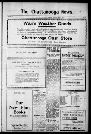 Primary view of object titled 'The Chattanooga News. (Chattanooga, Okla.), Vol. 16, No. 10, Ed. 1 Thursday, May 5, 1921'.
