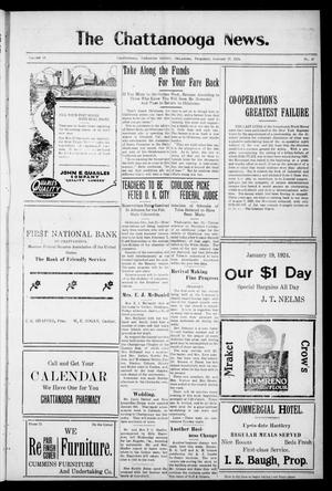 Primary view of object titled 'The Chattanooga News. (Chattanooga, Okla.), Vol. 18, No. 47, Ed. 1 Thursday, January 17, 1924'.