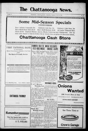 Primary view of object titled 'The Chattanooga News. (Chattanooga, Okla.), Vol. 18, No. 22, Ed. 1 Thursday, July 26, 1923'.
