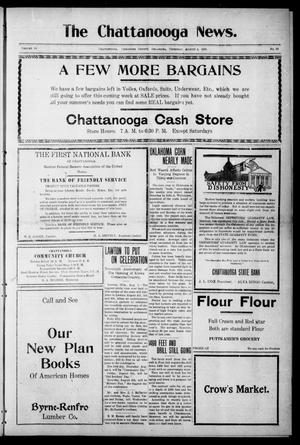 Primary view of object titled 'The Chattanooga News. (Chattanooga, Okla.), Vol. 16, No. 23, Ed. 1 Thursday, August 4, 1921'.