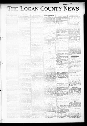 Primary view of object titled 'The Logan County News (Crescent, Okla.), Vol. 14, No. 23, Ed. 1 Thursday, April 12, 1917'.