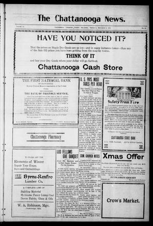 Primary view of object titled 'The Chattanooga News. (Chattanooga, Okla.), Vol. 16, No. 40, Ed. 1 Thursday, December 1, 1921'.