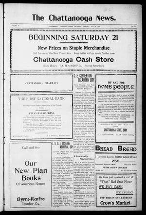 Primary view of object titled 'The Chattanooga News. (Chattanooga, Okla.), Vol. 16, No. 13, Ed. 1 Thursday, May 26, 1921'.