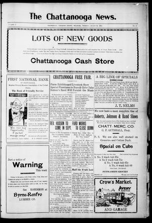 Primary view of object titled 'The Chattanooga News. (Chattanooga, Okla.), Vol. 17, No. 27, Ed. 1 Thursday, August 31, 1922'.