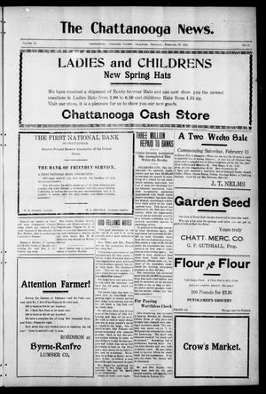 Primary view of object titled 'The Chattanooga News. (Chattanooga, Okla.), Vol. 16, No. 51, Ed. 1 Thursday, February 16, 1922'.
